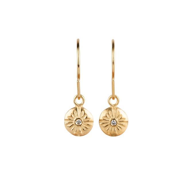 Small Lucia Vermeil Diamond Dangle Earrings