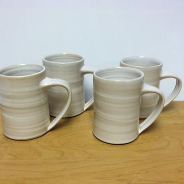 handmade mugs, coffee mug, stoneware mugs, white mug, ceramic mugs, pottery mug, cottage chic, modern, minimalist by altheaspottery