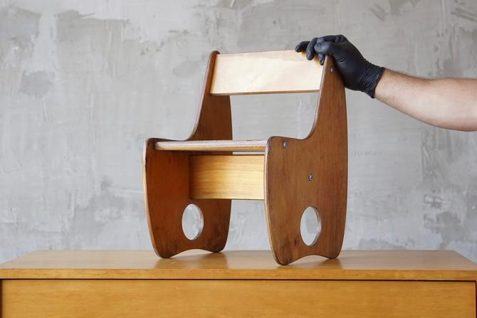 Vintage Modernist Children's Chair by FandFVintage