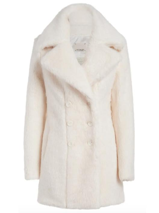 margot teddy bear double breasted coat