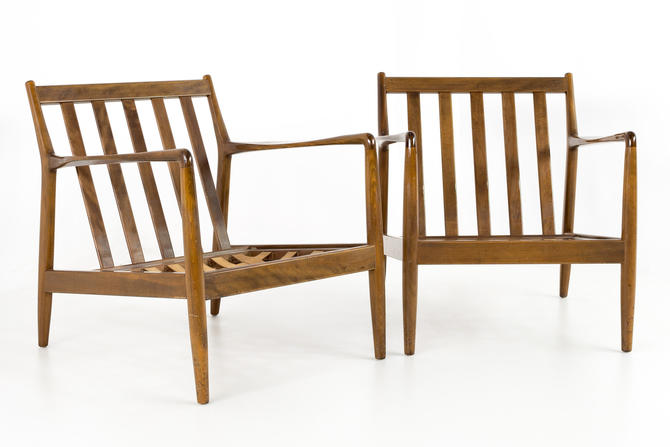 Folke Ohlsson For Dux Mid Century Danish Lounge Chairs - mcm by ModernHill