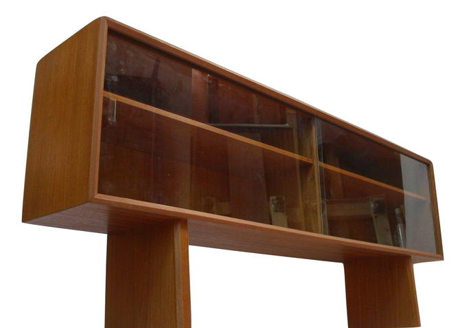 Danish Modern Teak Bookcase or Display Case / Credenza By Sven Larsen for Faarup