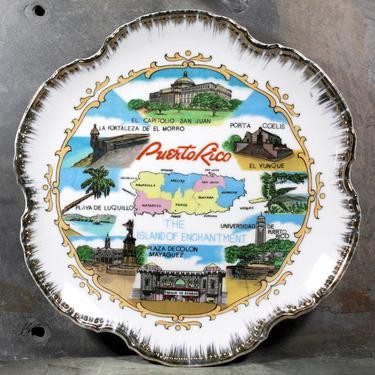Vintage Puerto Rico Souvenir Plate - Full-Color Souvenir Plate - Puerto Rico Souvenir - San Juan, Porta Coelis, Parque de Bombas & More! by Bixley
