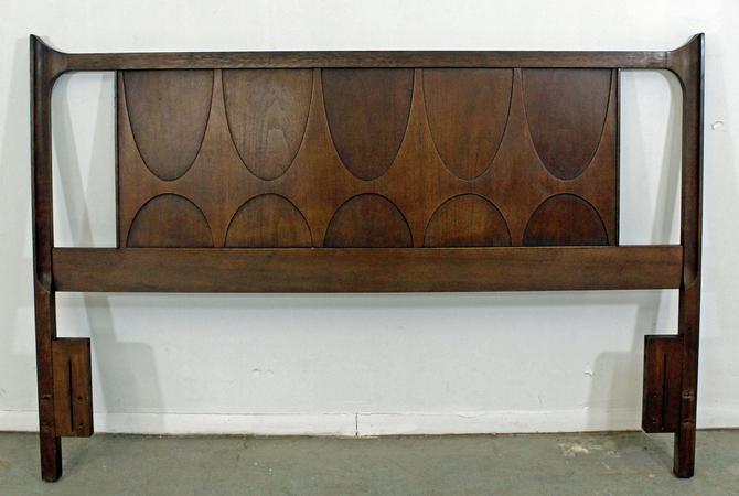 Broyhill Brasilia Mid-Century Modern Walnut Full/Queen Size Headboard by AnnexMarketplace