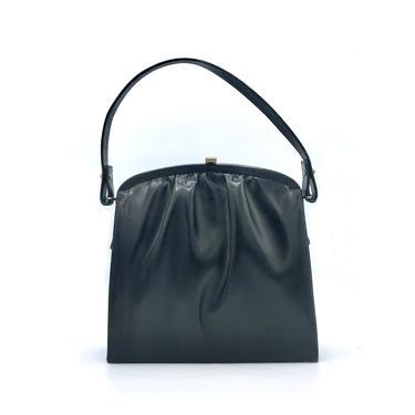 Vintage 1950s Brown Lizard Handbag, Genuine Lizard Skin Purse, Footed Kelly Bag Style Handbag, Mid-Century Purse by RanchQueenVintage