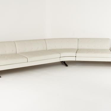 Poltrona Frau Kennedee Mid Century Italian Leather Sofa Sectional Sofa - mcm by ModernHill