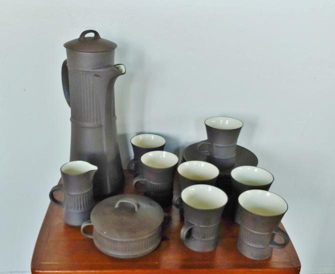 Vintage Dansk Flamestone Tea Coffee Set of 17 by ModandOzzie