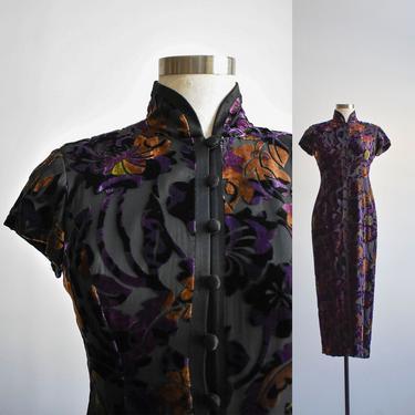 90s Floral Velour Dress by milkandice