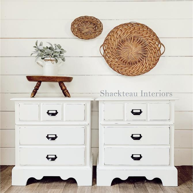Set of Farmhouse Nightstands