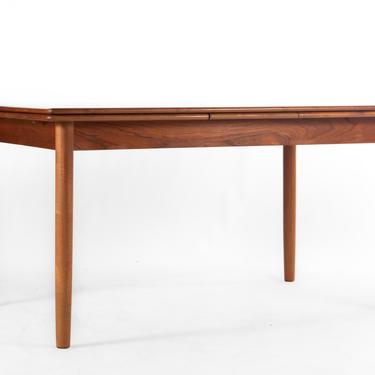 Mid Century Modern Teak Danish Extension Dining Table by ABTModern