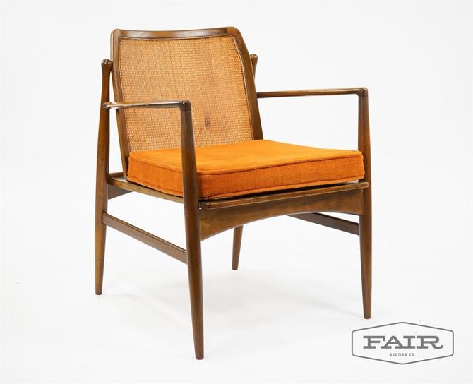 IB Kofod Larsen Attrb. Cane Back Lounge Chair