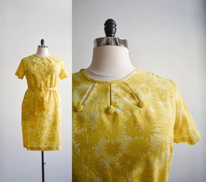 1960s Marigold Cocktail Dress Plus Size by milkandice