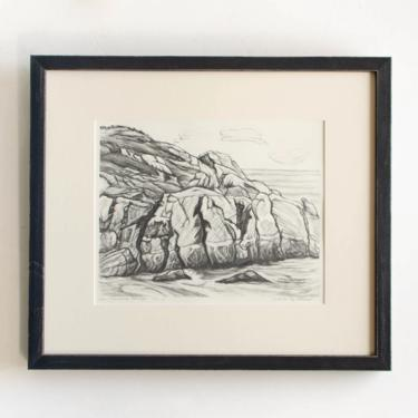 """Antique Etching Limited Edition Original Signed American Artist Adele Watson 1873 - 1947 Titled """"Sea Carmel Rocks"""" by HouseofSeance"""