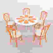 Vintage Orange Slice Dining Table Set Table