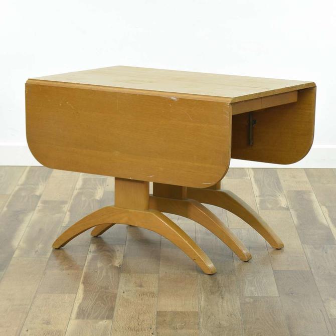 Streamline Moderne Style Drop Leaf Dining Table