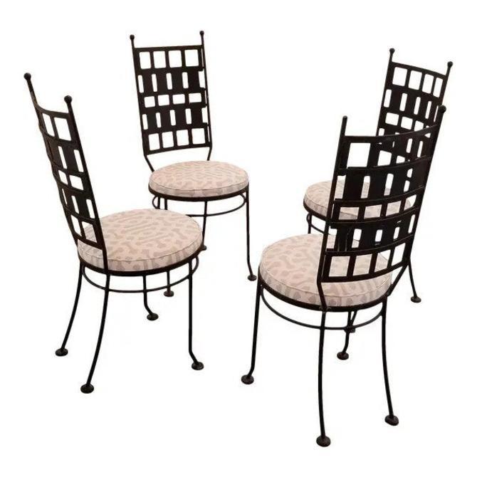 Maurizio Tempestini Iron Garden or Dining Chairs by JanakosAndCompany