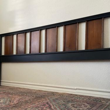 Vintage Mid Century King Size Headboard by Bassett Impact Collection *Local Pick Up Only by BluePoppyFurniture