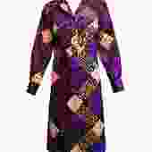 Lanvin  Dress 70s Wild Graphic Button Front
