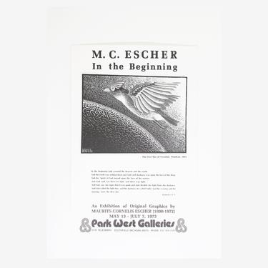 M.C. Escher - In the beginning Exhibition Poster Lithograph by GoldmineUnlimited