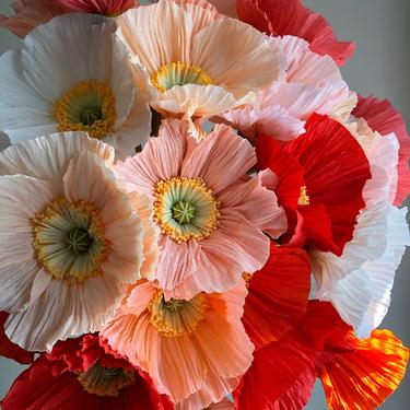 Crepe Paper Icelandic Poppy -- Paper Flowers for Home Decor or Weddings by ReveryPaperFlora