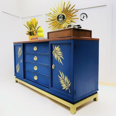 Mid Century American Martinsville Credenza/ Buffet /storage cabinet/ indigo Credenza by withlovefurniture10