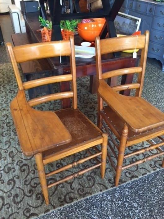 Vintage school chairs. $90/each