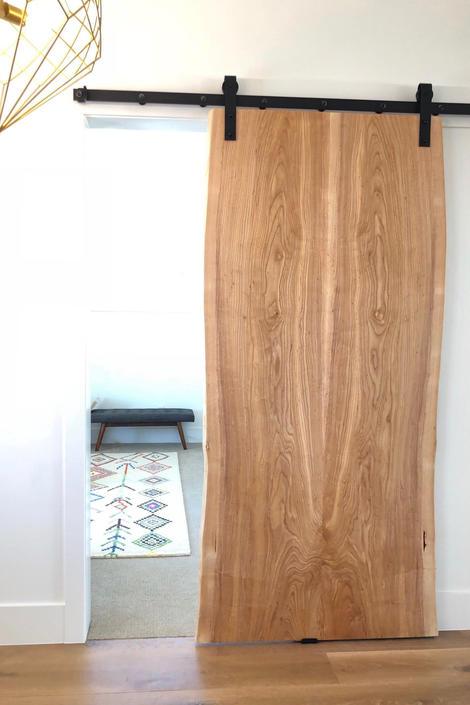 Sliding Barn Doors - Live Edge Wood Slabs - Ash by StocktonHeritage