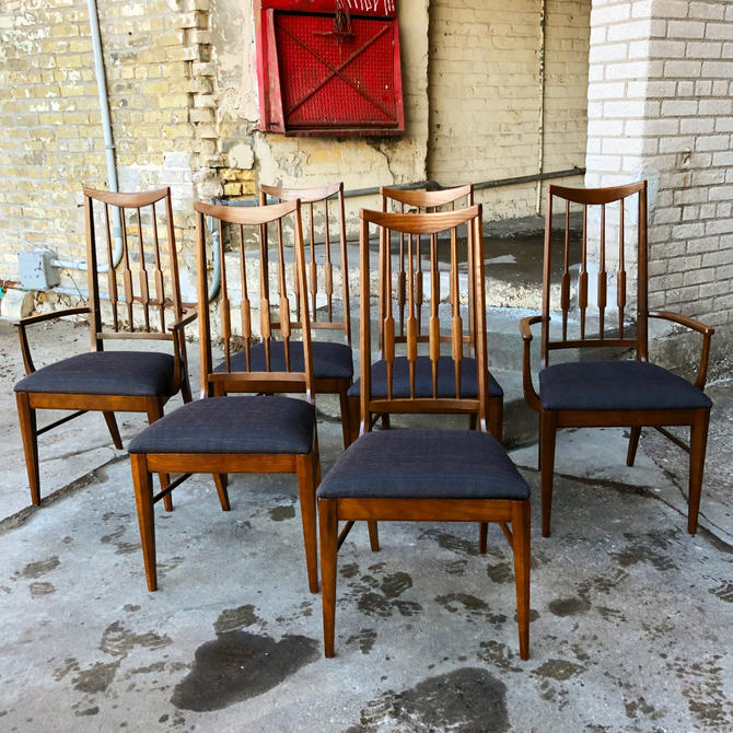Set Of 6 Restored Dining Chairs