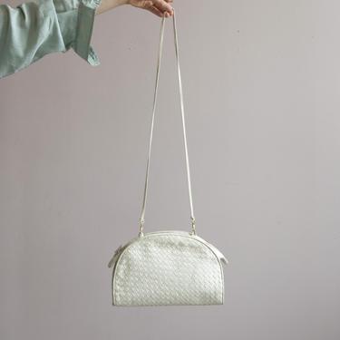 sea foam woven leather shoulder bag by EELT