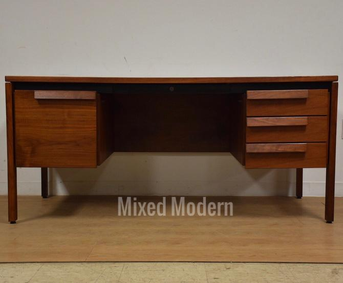Jens Risom Walnut Executive Desk by mixedmodern1