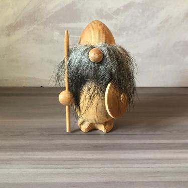 Vintage Scandinavian Wooden Viking by PKFlamingoVintage