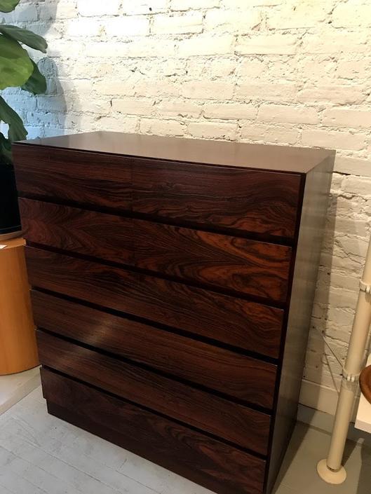 Mid Century Danish Rosewood 10 Drawer Tall Dresser designed by Arne Wahl Iverson for Vinde Mobler