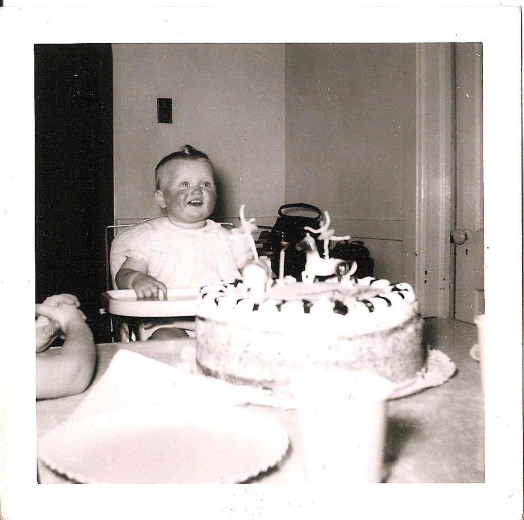 Vintage Photo Happy Birthday Baby Birthday Party