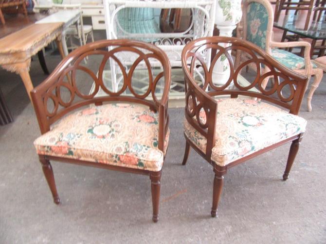 Pair of Circle Loopback Chairs
