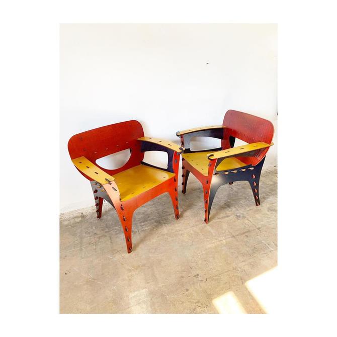 Pair of Puzzle Chairs by David Kawecki by FlipAtik
