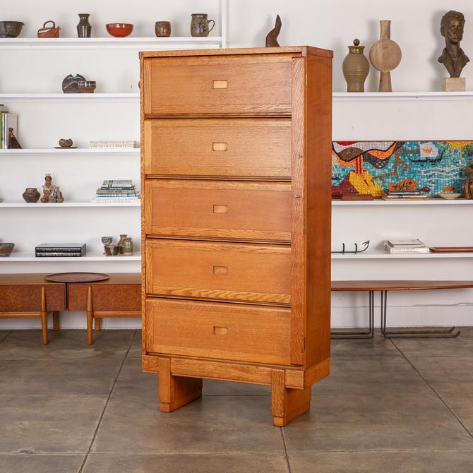 Oak Filing Cabinet by ER Staverton