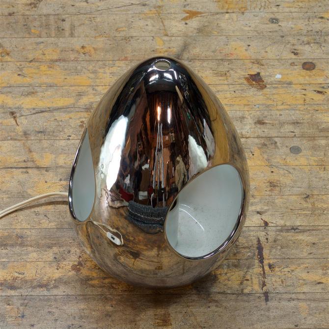 1960s SC3 Italian Chromed Ceramic Hanging Table Lamp Lantern Sotsass Bitossi Vintage Mid-Century Modern by BrainWashington