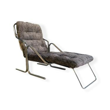 Mid-Century Modern Chrome Chase Lounge Chair  by Jerry Johnson for Landes