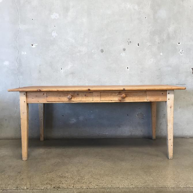 Rustic Library Table