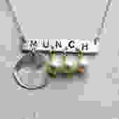 Munch Necklace- Sterling Silver with Pearls by RachelPfefferDesigns
