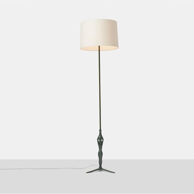 Gino Scarpa Floor Lamp in Bronze