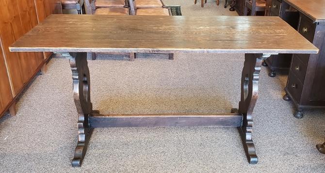 Item #R64 English Oak Refectory Table c.1920s