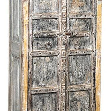 Antique Teak Wood Distressed Armoire from Terra Nova Designs by TerraNovaLA