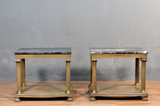 Regency Gilded Granite-Top End Table – ONLINE ONLY