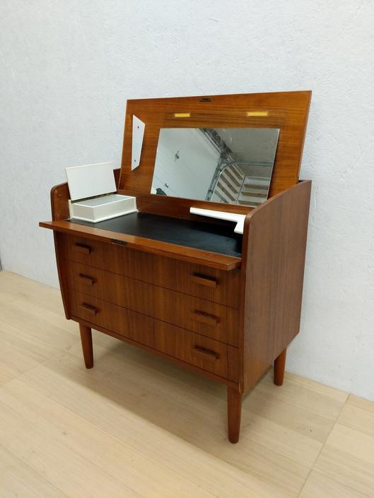 Vintage Danish Modern Teak Vanity / Low Dresser by FarOutFindsNYC