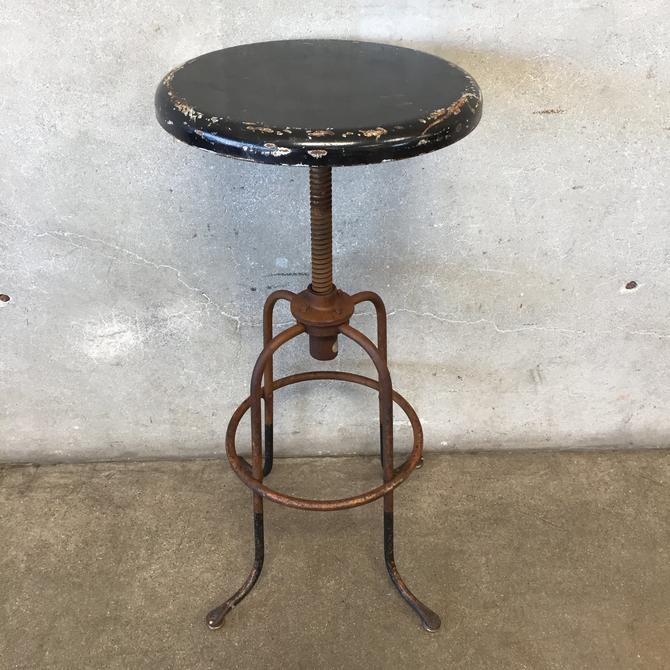 Vintage Industrial Stool by Steeline