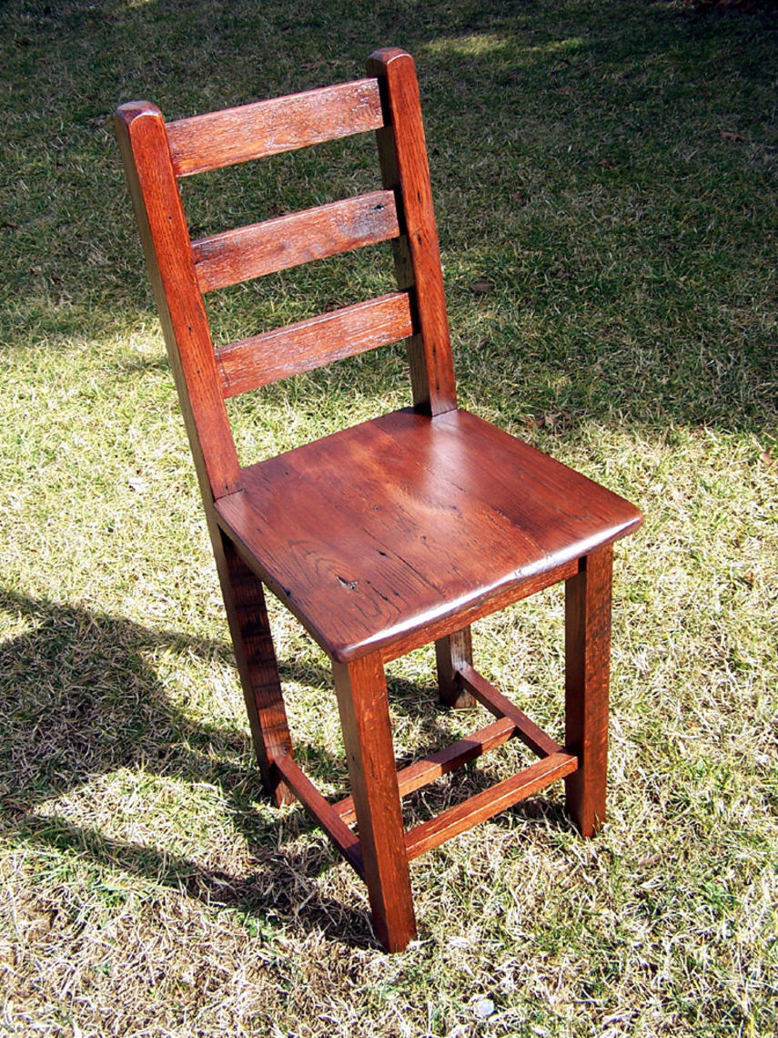 Reclaimed Antique Oak Bar Height Dining Chairs by ...