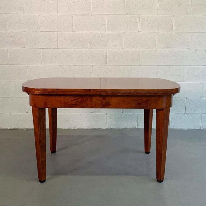 Biedermeier Satinwood Expanding Dining Table by Ruscheweyh Tisch