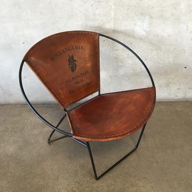 Modern Faux Leather Papasan Chair