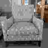 PAIR OF CLUB CHAIRS IN GEOMETRIC FABRIC